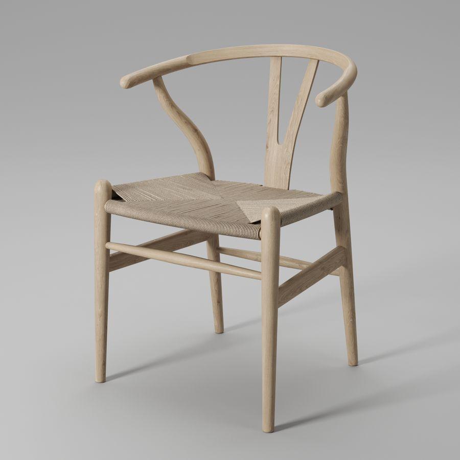 Krzesło Wishbone CH24 royalty-free 3d model - Preview no. 2