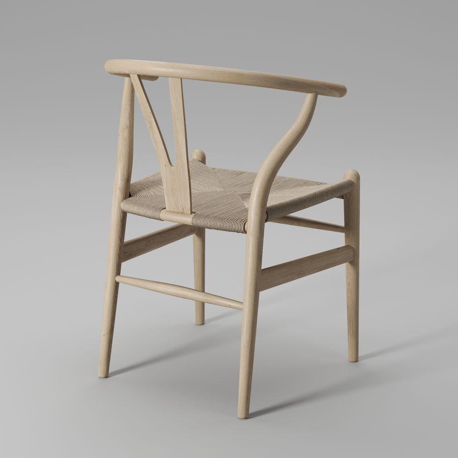 Krzesło Wishbone CH24 royalty-free 3d model - Preview no. 3
