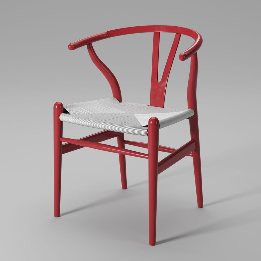 Krzesło Wishbone CH24 royalty-free 3d model - Preview no. 14
