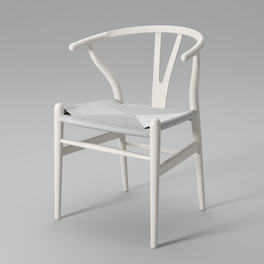 Krzesło Wishbone CH24 royalty-free 3d model - Preview no. 10