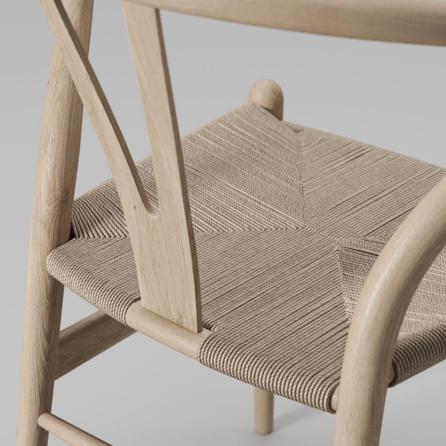 Krzesło Wishbone CH24 royalty-free 3d model - Preview no. 4