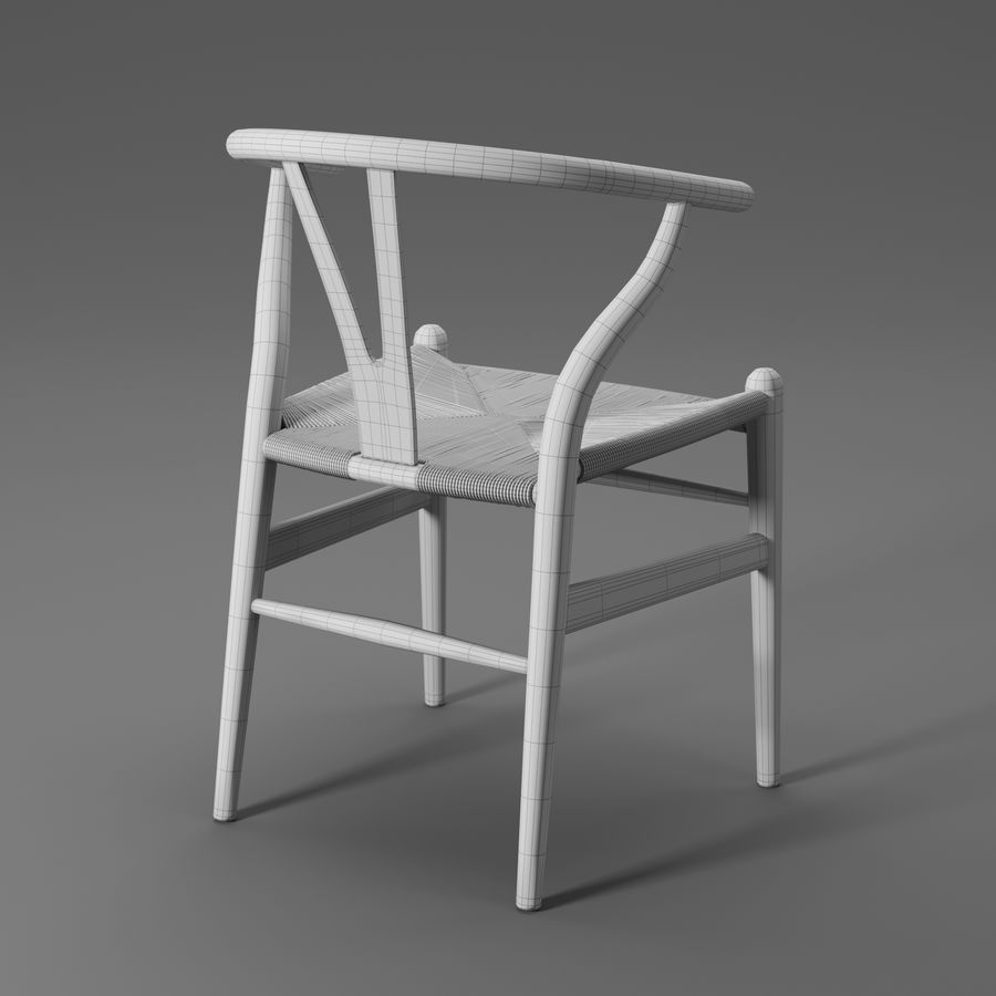 Krzesło Wishbone CH24 royalty-free 3d model - Preview no. 18