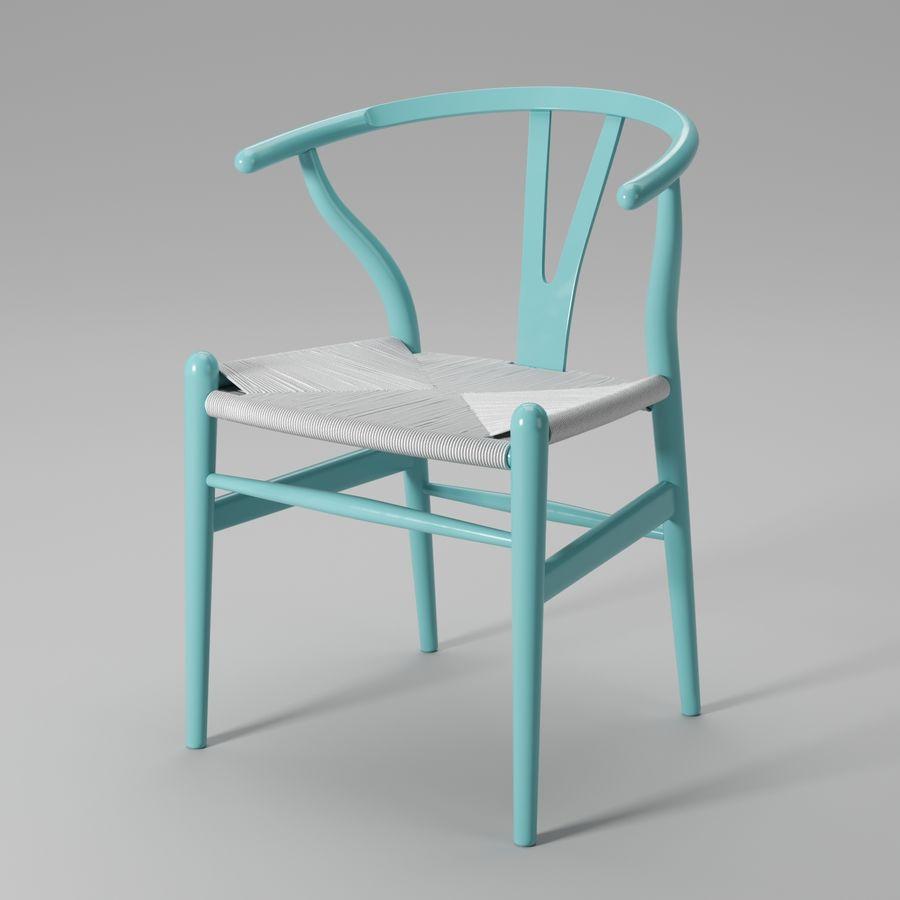 Krzesło Wishbone CH24 royalty-free 3d model - Preview no. 13