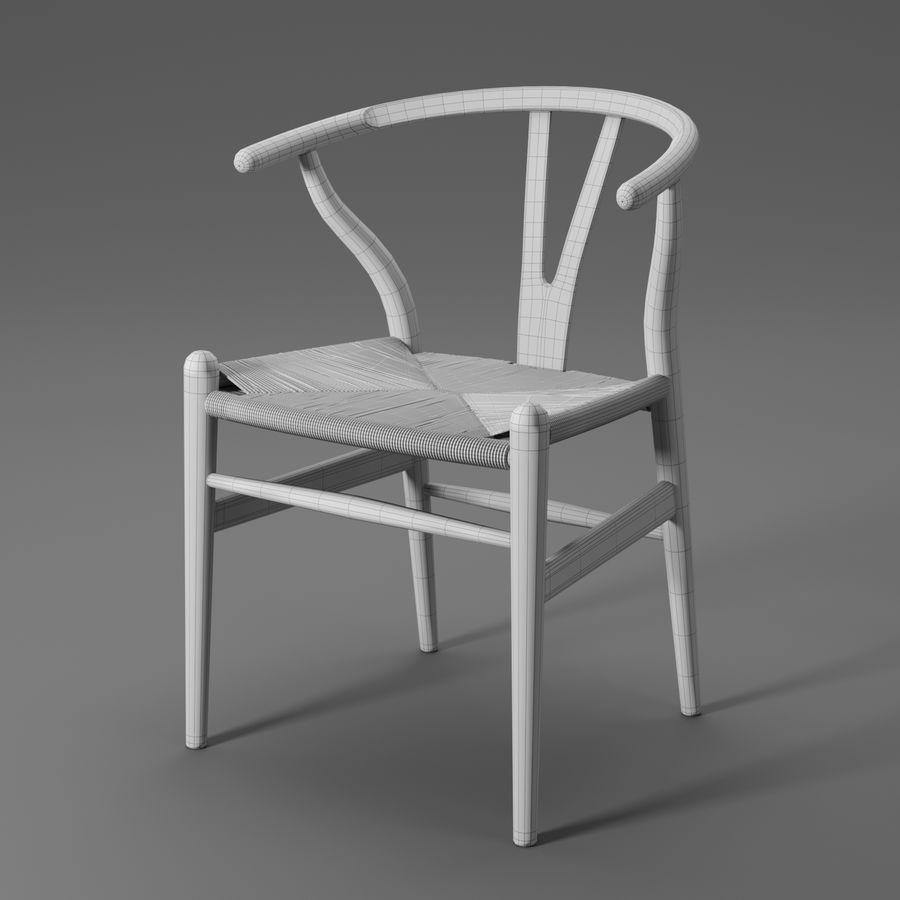 Krzesło Wishbone CH24 royalty-free 3d model - Preview no. 17