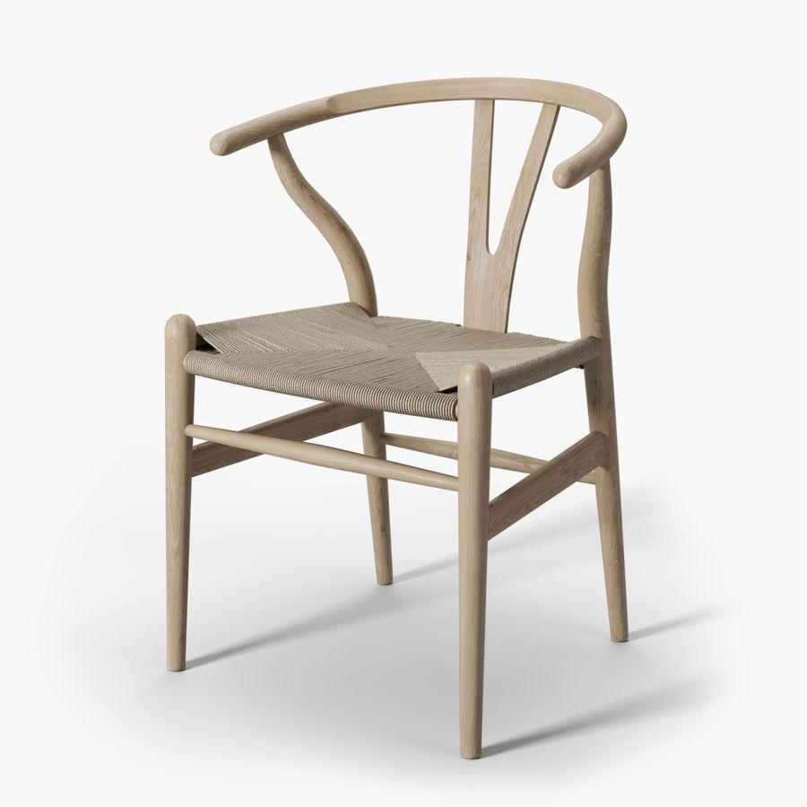 Krzesło Wishbone CH24 royalty-free 3d model - Preview no. 1