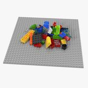 Случайные Лего Кирпичи 3d model