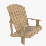 Tuin houten stoel 3d model