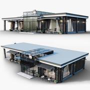 Lodziarnie i kawiarnie 3d model