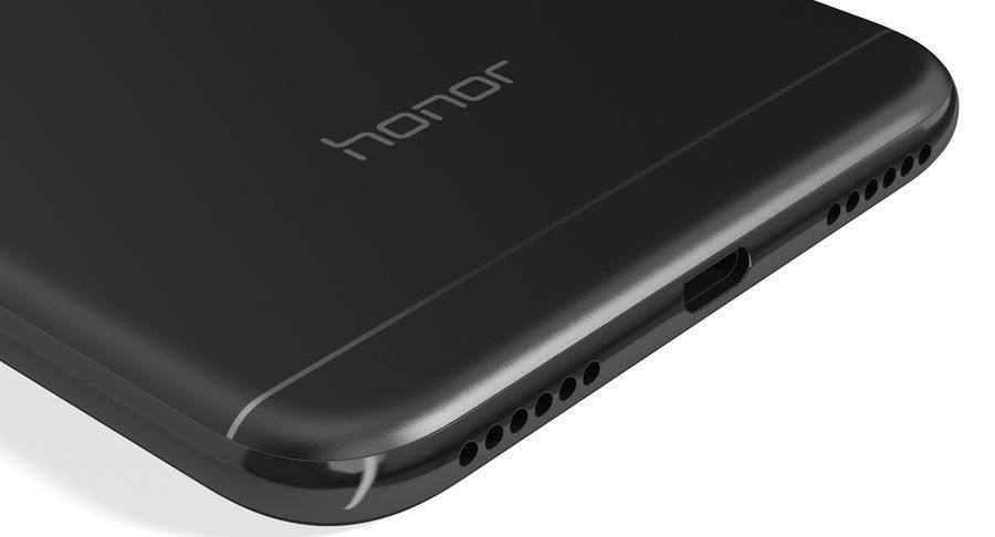Honor 7A Black royalty-free 3d model - Preview no. 14
