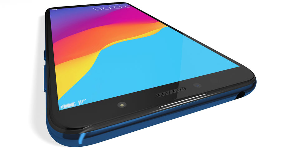 Honor 7A Blue royalty-free 3d model - Preview no. 9