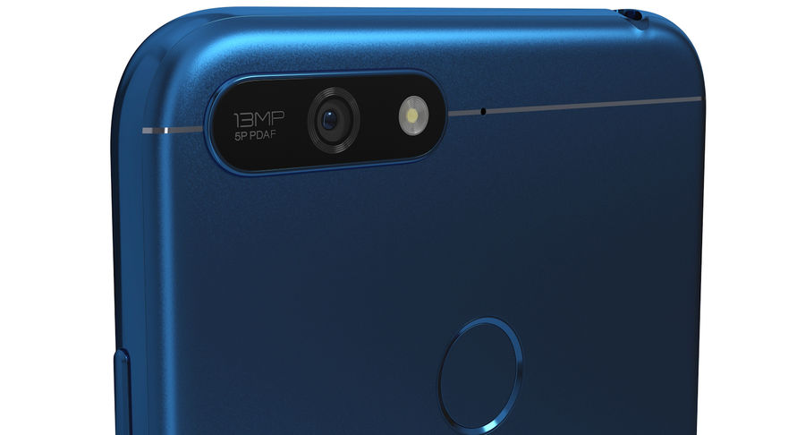 Honor 7A Blue royalty-free 3d model - Preview no. 5