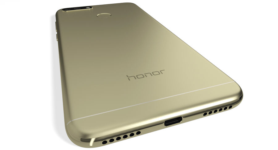 Honor 7A Gold royalty-free 3d model - Preview no. 6