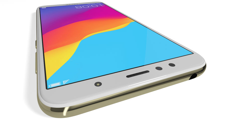 Honor 7A Gold royalty-free 3d model - Preview no. 9