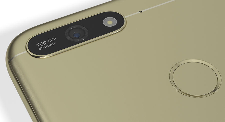 Honor 7A Gold royalty-free 3d model - Preview no. 13