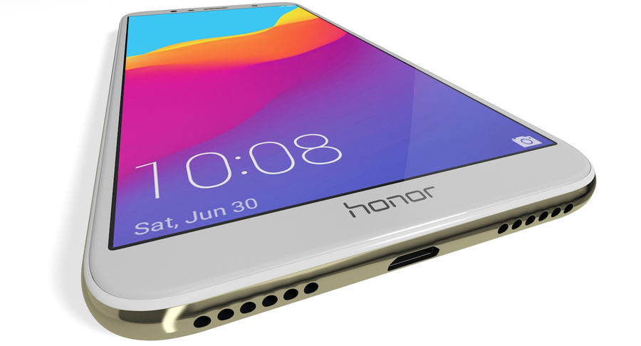 Honor 7A Gold royalty-free 3d model - Preview no. 10