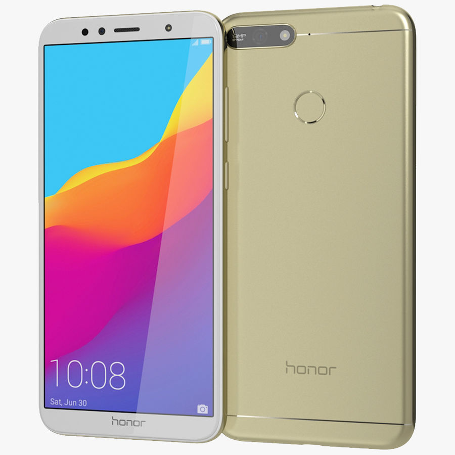 Honor 7A Gold royalty-free 3d model - Preview no. 1