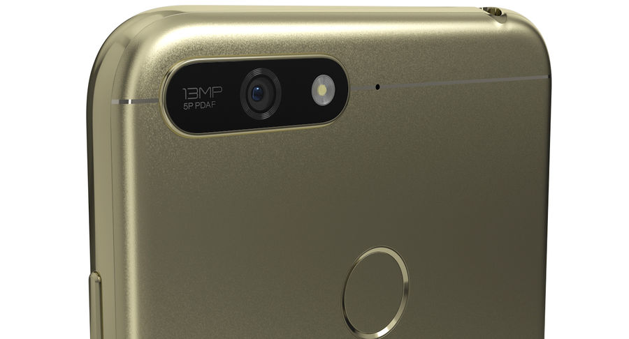 Honor 7A Gold royalty-free 3d model - Preview no. 5