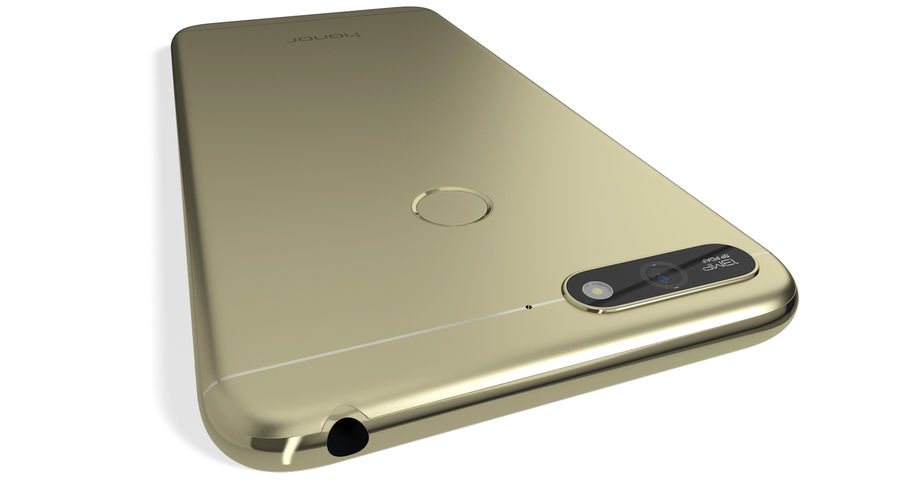 Honor 7A Gold royalty-free 3d model - Preview no. 7