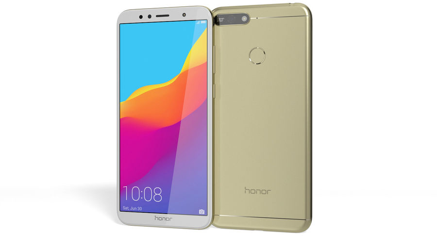 Honor 7A Gold royalty-free 3d model - Preview no. 2