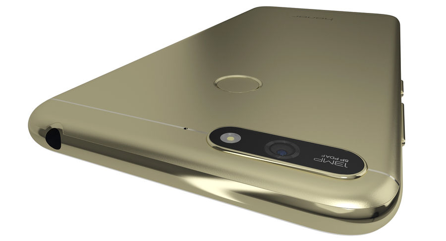 Honor 7A Gold royalty-free 3d model - Preview no. 8