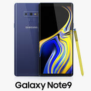 Samsung GALAXY Note 9 Ocean Blue 3d model