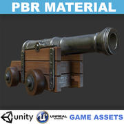 Realistic Cannon - PBR Game Asset 3d model