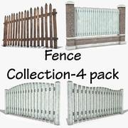 Zaun Collection-4 pack 3d model
