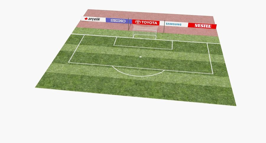 Soccer Goal royalty-free 3d model - Preview no. 11