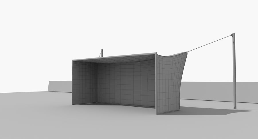 Soccer Goal royalty-free 3d model - Preview no. 12