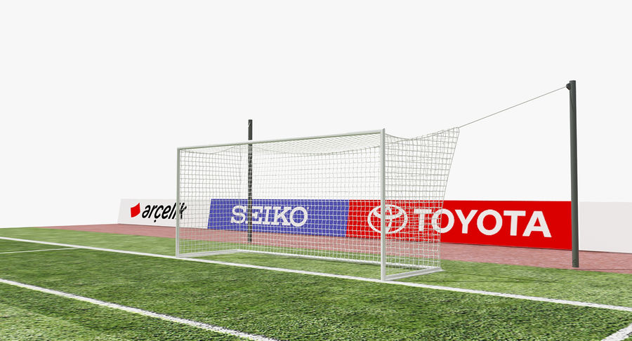 Soccer Goal royalty-free 3d model - Preview no. 2