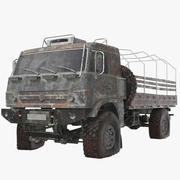Caminhão do exército enferrujado 3d model