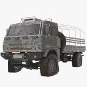 Camión del ejército oxidado modelo 3d