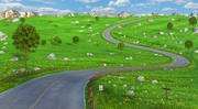 Meadow Road Cartoon 3d model