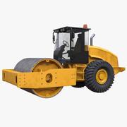 Drum Soil Compactor 3d model