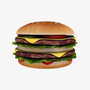 Double Burger 3d model