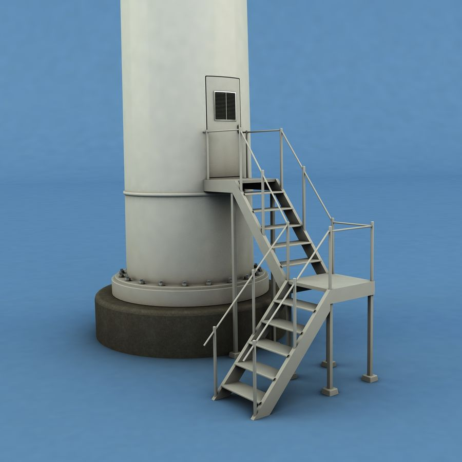 Wind Generator royalty-free 3d model - Preview no. 5