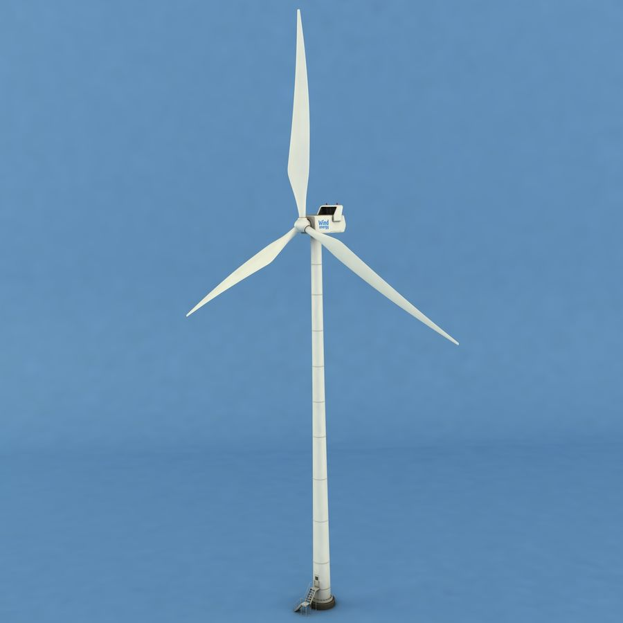 Wind Generator royalty-free 3d model - Preview no. 2