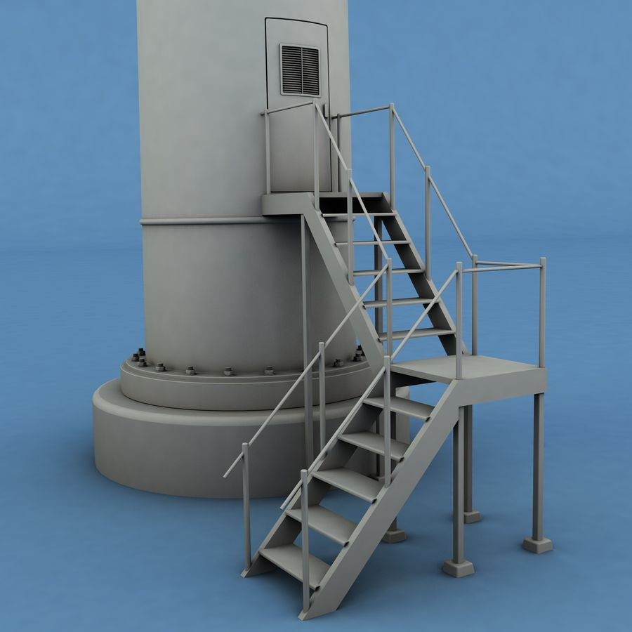 Wind Generator royalty-free 3d model - Preview no. 9