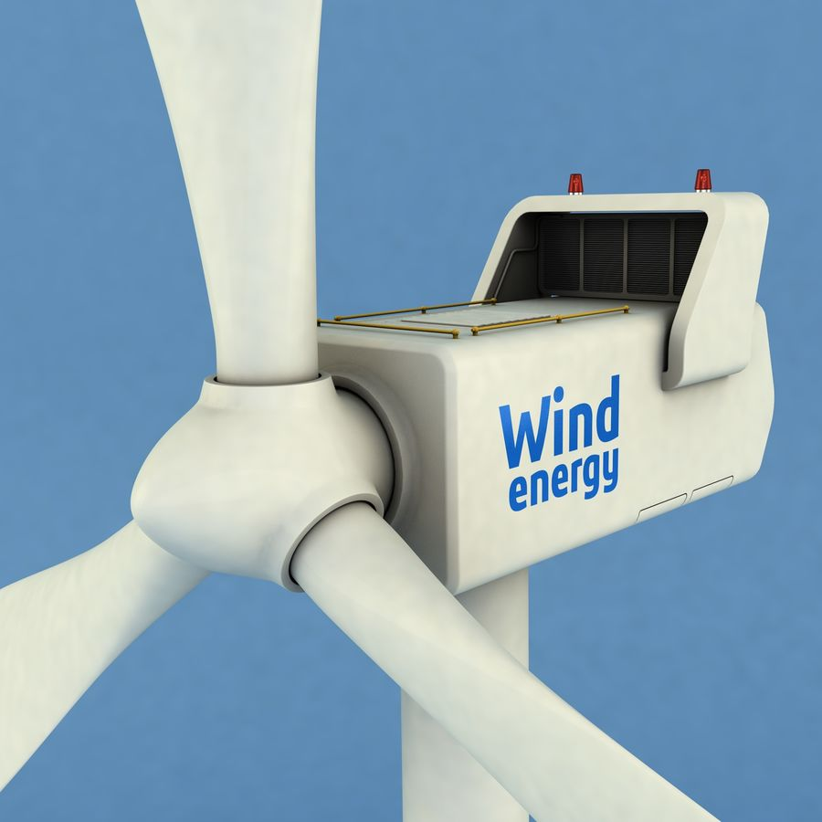 Wind Generator royalty-free 3d model - Preview no. 1