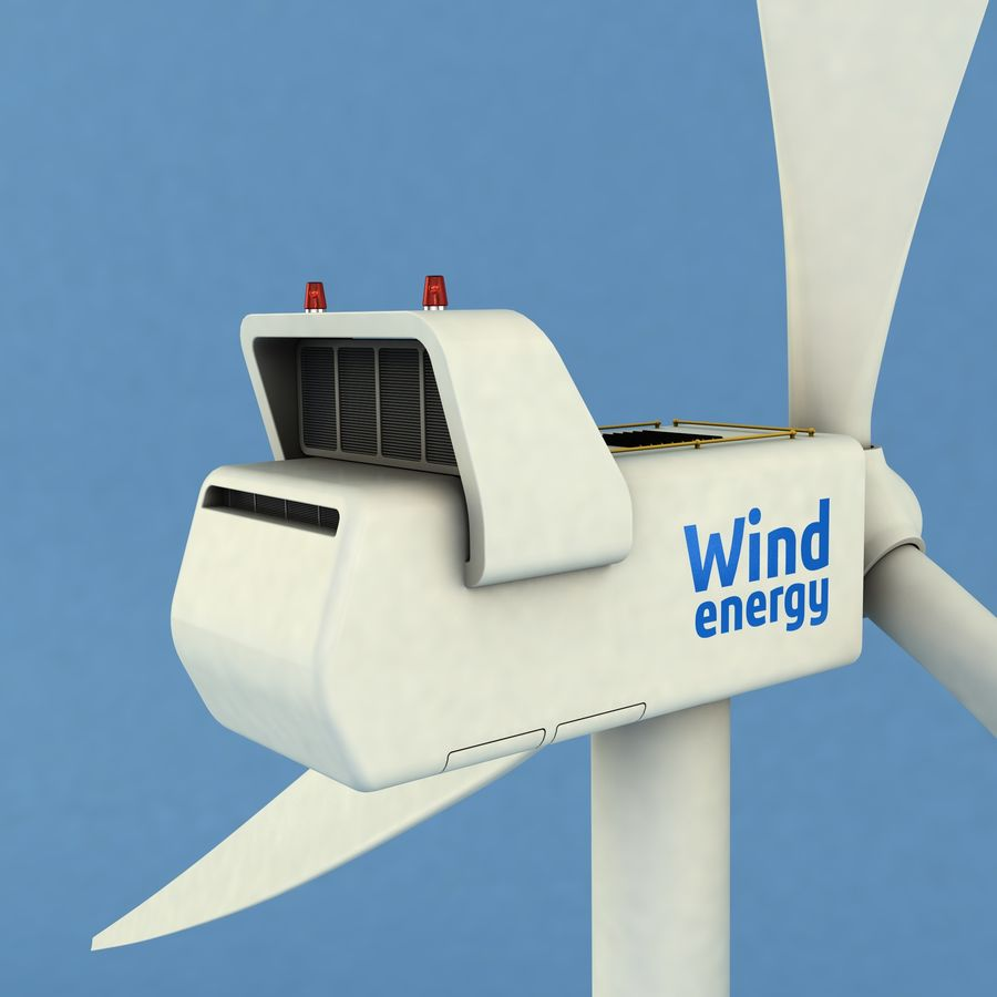 Wind Generator royalty-free 3d model - Preview no. 4