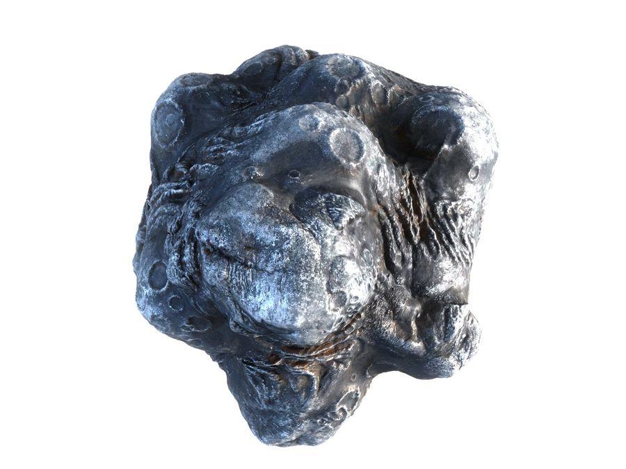 Lava Meteorite HD royalty-free 3d model - Preview no. 8