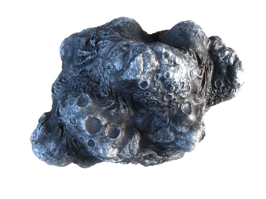 Lava Meteorite HD royalty-free 3d model - Preview no. 11