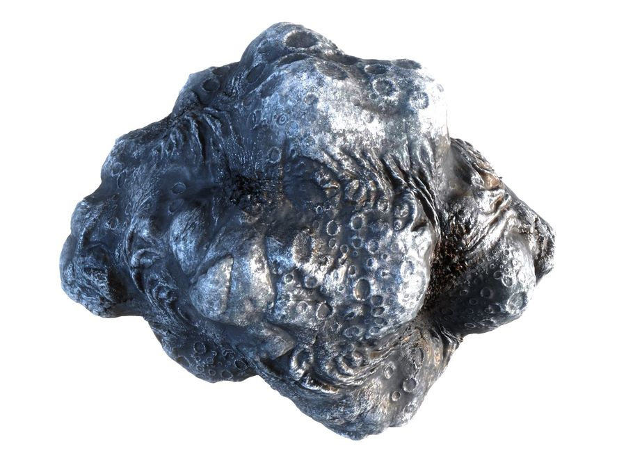 Lava Meteorite HD royalty-free 3d model - Preview no. 3