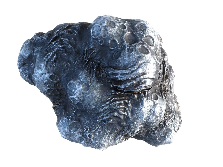 Lava Meteorite HD royalty-free 3d model - Preview no. 2