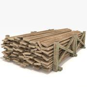 Pranchas de madeira velhas 3d model