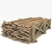 Old Wooden Planks 3d model