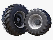 Tractor wheels Trelleborg 650/68 R34 and 750/75 R42 3d model