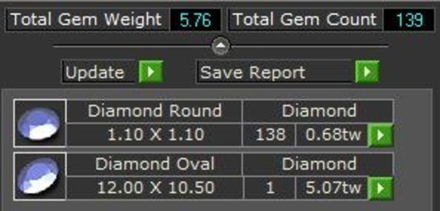 Anillo ovalado de vástago partido royalty-free modelo 3d - Preview no. 5