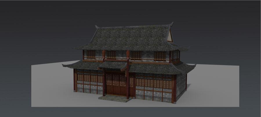 arquitectura antigua china royalty-free modelo 3d - Preview no. 1
