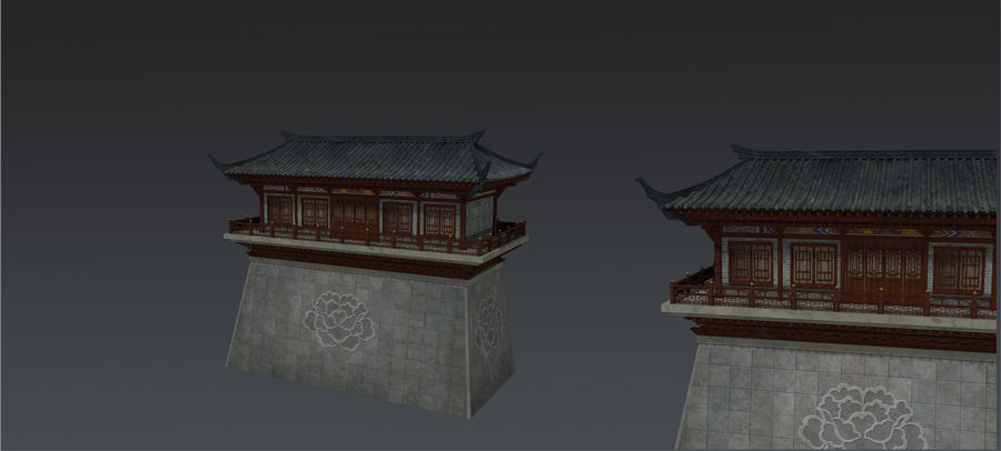 Arquitectura antigua china royalty-free modelo 3d - Preview no. 1